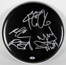 N.W.A Ice Cube, MC Ren & DJ Yella Signed 12 Inch Drum Head BAS #A02005