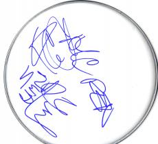 NWA N.W.A. Ice Cube DJ Yella MC Ren Autographed Signed 12 inch glossy DrumHead