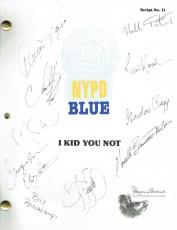 NYPD Blue Cast Signed Authentic Autographed Script 9 Sigs PSA/DNA #Z08507