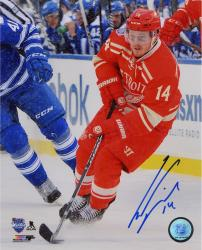 """Gustav Nyquist Detroit Red Wings Autographed 8"""" x 10"""" Winter Classic Photograph"""