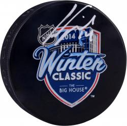 Gustav Nyquist Detroit Red Wings Winter Classic Autographed Hockey Logo Puck