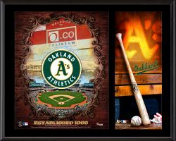 Oakland Athletics Sublimated 12'' x 15'' Team Logo Plaque - Mounted Memories