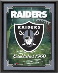 "Oakland Raiders Team Logo Sublimated 10.5"" x 13"" Plaque - Mounted Memories"