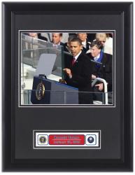 Barack Obama Deluxe Framed Inauguration Washington Post with Logo