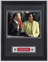 Barack Obama Framed 8x10 Swearing In Photo