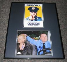 Observe & Report Cast Signed Framed 16x20 Photo Set JSA Seth Rogen & Anna Faris