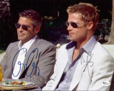 Oceans 11 - George Clooney and Brad Pitt Dual Autographed 8x10 Photo