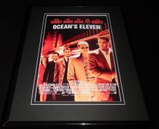 Ocean's Eleven Framed 11x14 Poster Display George Clooney Brad Pitt Matt Damon