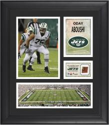 """Oday Aboushi New York Jets Framed 15"""" x 17"""" Collage with Game-Used Football"""