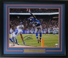 Odell Beckham Jr. 16x20 autographed The Catch photo framed JSA cert
