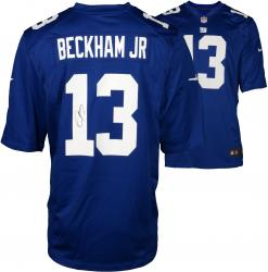 Odell Beckham Jr. New York Giants Autographed Blue Nike Game Jersey