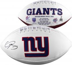 Odell Beckham Jr. New York Giants Autographed White Panel Football