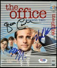 Office Cast (4) Carell, Krasinski, Wilderson & Novak Signed DVD Cover PSA Y06764