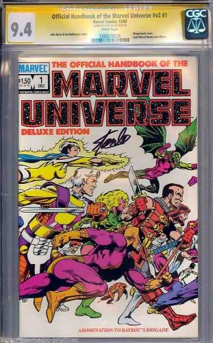 Official Handbook Of The Marvel Universe #v2 #1 Cgc 9.4 Ss Stan Lee #1203276028