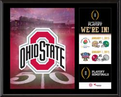 """Ohio State Buckeyes College Football Playoff """"We're In!"""" Sublimated  12"""" x 15"""" Plaque"""