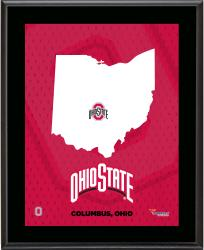 "Ohio State Buckeyes Sublimated 10.5"" x 13"" State Plaque"