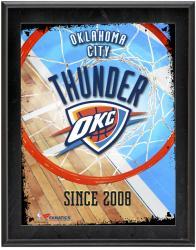 "Oklahoma City Thunder Team Logo Sublimated 10.5"" x 13"" Plaque"
