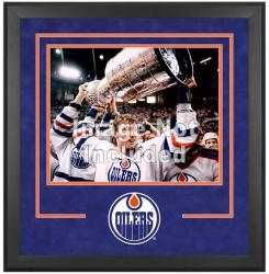 "Edmonton Oilers Deluxe 16"" x 20"" Horizontal Photograph Frame"