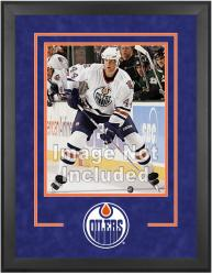 "Edmonton Oilers Deluxe 16"" x 20"" Vertical Photograph Frame"