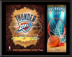 "Oklahoma City Thunder Sublimated 12"" x 15"" Team Logo Plaque"