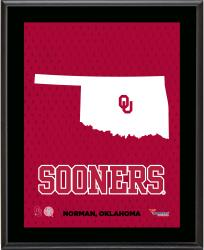 "Oklahoma Sooners Sublimated 10.5"" x 13"" State Plaque"