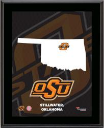 "Oklahoma State Cowboys Sublimated 10.5"" x 13"" State Plaque"