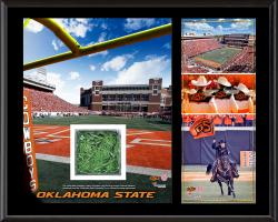 Oklahoma State Cowboys Sublimated 12'' x 15'' Plaque with Piece of Turf