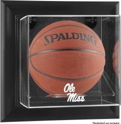 Ole Miss Rebels Black Framed Logo Wall-Mountable Basketball Display Case