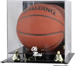 Ole Miss Rebels Golden Classic Logo Basketball Display Case with Mirror Back