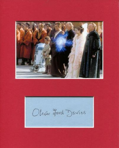 Oliver Ford Davies Star Wars Sio Bibble Rare Signed Autograph Photo Display