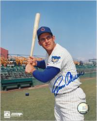 "Gene Oliver Chicago Cubs Autographed 8"" x 10"" Bat Pose Photograph"