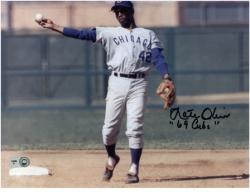 "Nate Oliver Chicago Cubs Autographed 8"" x 10"" Horizontal Photograph with 69 Cubs Inscription"