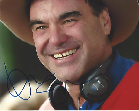 "OLIVER STONE - DIRECTOR/SCREENWRITER His Work Included ""MIDNIGHT EXPRESS"" ""PLATOON"", and ""BORN on the FOURTH of JULY"" Signed 10x8 Color Photo"