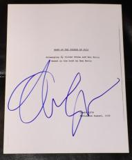 "Oliver Stone Signed Autograph ""born On The Fourth Of July"" Full Movie Script Coa"