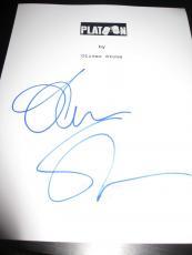 Oliver Stone Signed Autograph Platoon Script Movie Rare Oscar Coa D Sheen