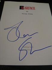 Oliver Stone Signed Autograph Scarface Script Movie Rare Oscar Pacino Coa