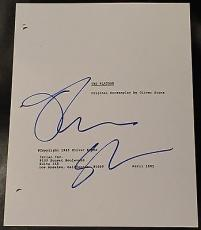 "Oliver Stone Signed Autograph Very Rare ""platoon"" Full Movie Script With Coa"