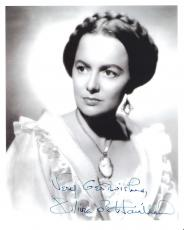 "OLIVIA DE HAVILLAND as MELANIE HAMILTON in the 1939 Film ""GONE WITH THE WIND"" Signed 8x10 B/W Photo"