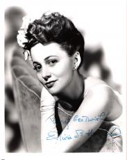 "OLIVIA DE HAVILLAND Best Known as MELANIE HAMILTON in the 1939 Film ""GONE WITH THE WIND"" Signed 8x10 B/W Photo"