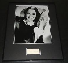 Olivia De Havilland Signed Framed 16x20 Photo Display JSA Gone With the Wind B