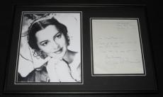 Olivia De Havilland Signed Framed Letter / Photo Display Gone With the Wind JSA