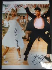 Olivia Newton-John John Travolta Signed 10x13.5 Grease Photo Auto PSA/DNA U83890
