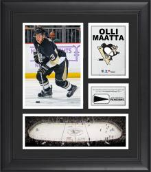 """Olli Maatta Pittsburgh Penguins Framed 15"""" x 17"""" Collage with Piece of Game-Used Puck"""