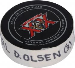 Dylan Olsen Florida Panthers Game Used Goal Puck vs.Washington Capitals 12/13/13