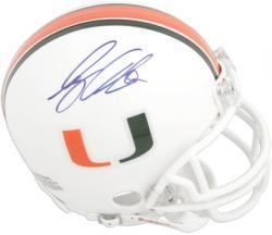 Greg Olsen Miami Hurricanes Autographed Riddell Mini Helmet
