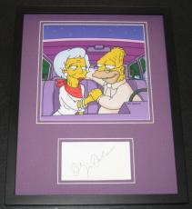 Olympia Dukakis The Simpsons Signed Framed 11x14 Photo Display JSA