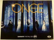 ONCE UPON A TIME Cast (5) Signed 11x14 Photo Parrilla Morrison Becket BAS COA A