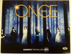 ONCE UPON A TIME Cast (5) Signed 11x14 Photo Parrilla Morrison Becket BAS COA B