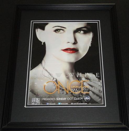 Once Upon a Time Framed 11x14 ORIGINAL Vintage Advertisement Ginnifer Goodwin