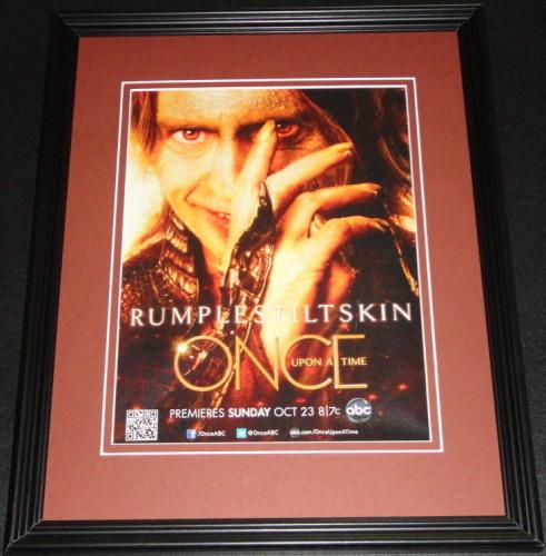 Once Upon a Time Framed 11x14 ORIGINAL Vintage Advertisement Robert Carlyle